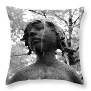 Cold Girl Throw Pillow