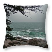 Cold Green Surf Throw Pillow by Skip Willits