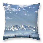 Cold Lake Throw Pillow