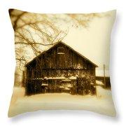 Cold On The Ridge Throw Pillow