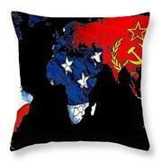 Cold War Map Throw Pillow