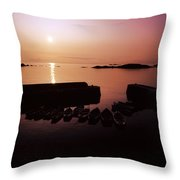 Coliemore Harbour, Co Dublin, Ireland Throw Pillow