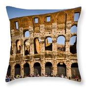 Coliseum Facade Throw Pillow