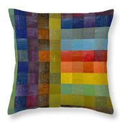 Collage Color Study Sketch Throw Pillow