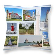 Collection Of Lighthouses Throw Pillow