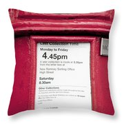 Collection Time 4.45 Pm Throw Pillow