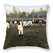 College Footbal Game, 1889 Throw Pillow