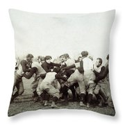 College Football Game, 1905 Throw Pillow