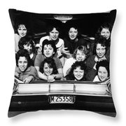Collegiate Fun, 1960 Throw Pillow