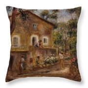 Collette's House At Cagne Throw Pillow