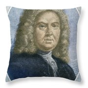 Colley Cibber, English Poet Laureate Throw Pillow