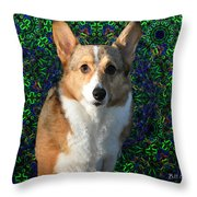 Collie Throw Pillow by Bill Cannon