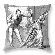 Collins: Woman In White Throw Pillow