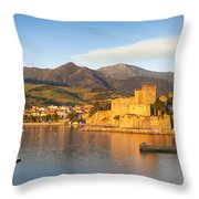 Collioure At Dawn Throw Pillow