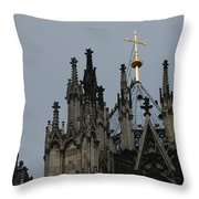 Cologne Cathedral Towers Throw Pillow