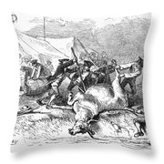 Colonial Barbecue, C1766 Throw Pillow