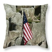 Colonial Cemetery Throw Pillow