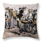 Colonial Coffee House Throw Pillow