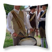 Colonial Drummer Throw Pillow