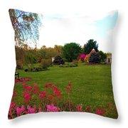 Colonial Garden Throw Pillow