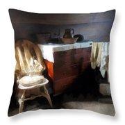 Colonial Nightclothes Throw Pillow