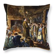 Colonial Schoolhouse Throw Pillow