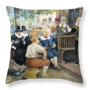 Colonial Smoking Protest Throw Pillow