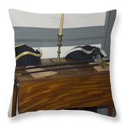 Colonial Soldiers Artifacts Throw Pillow