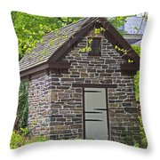 Colonial Stone Ice House Throw Pillow