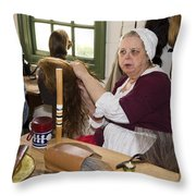 Colonial Wigmaker Throw Pillow