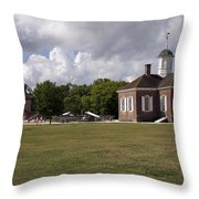 Colonial Williamsburg Scene Throw Pillow