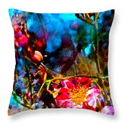 Color 91 Throw Pillow by Pamela Cooper