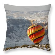 Color Above The Canyon Throw Pillow