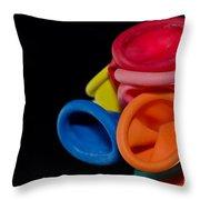 Color Balloons Throw Pillow