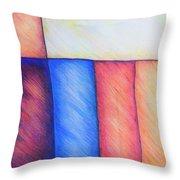 Color Block Throw Pillow