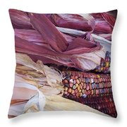 Color Corn Throw Pillow