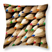 Color Crayons Throw Pillow