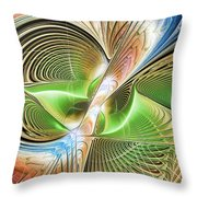 Color Etchings Of The Heart Throw Pillow