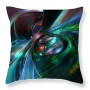 Color Fast Faces  Throw Pillow