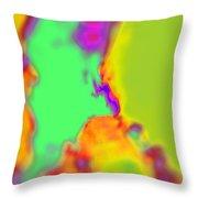 Color Fusion Abstract Throw Pillow