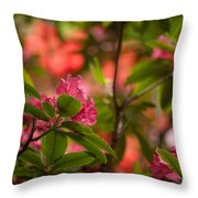 Color In The Jungle Throw Pillow