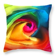 Color Launch Throw Pillow