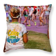 Color Me Drunk Throw Pillow