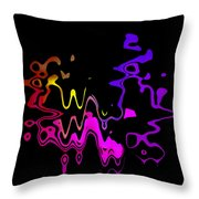 Color Melting Abstract Throw Pillow