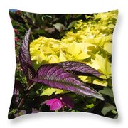 Color Of Purple Throw Pillow