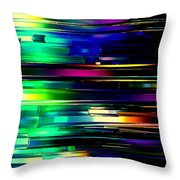 Color Of Speed Throw Pillow