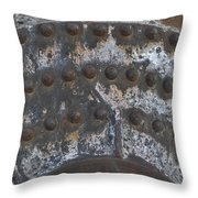 Color Of Steel 7a Throw Pillow