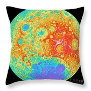 Color Shaded Relief Of The Lunar Throw Pillow