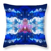 Color Sky Orchid Throw Pillow
