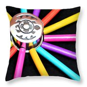 Color Squared Throw Pillow